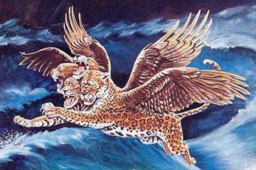 此后我观看,又有一兽如豹,背上有鸟的四个翅膀;这兽有四个头,又得了权柄。(但7:6)